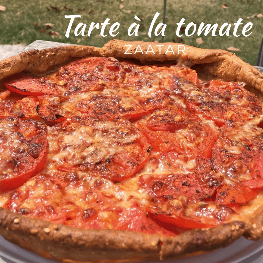 Tarte à la tomate Zaatar