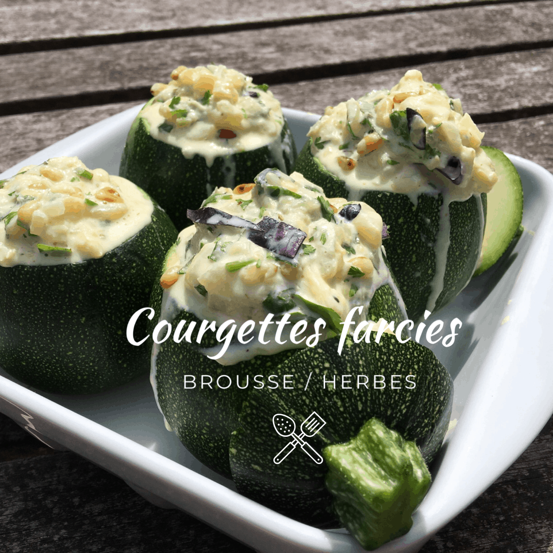 Courgettes farcies brousse