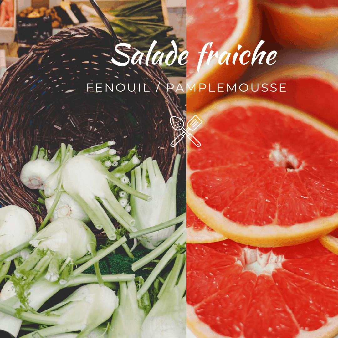 Salade fenouil pamplemousse