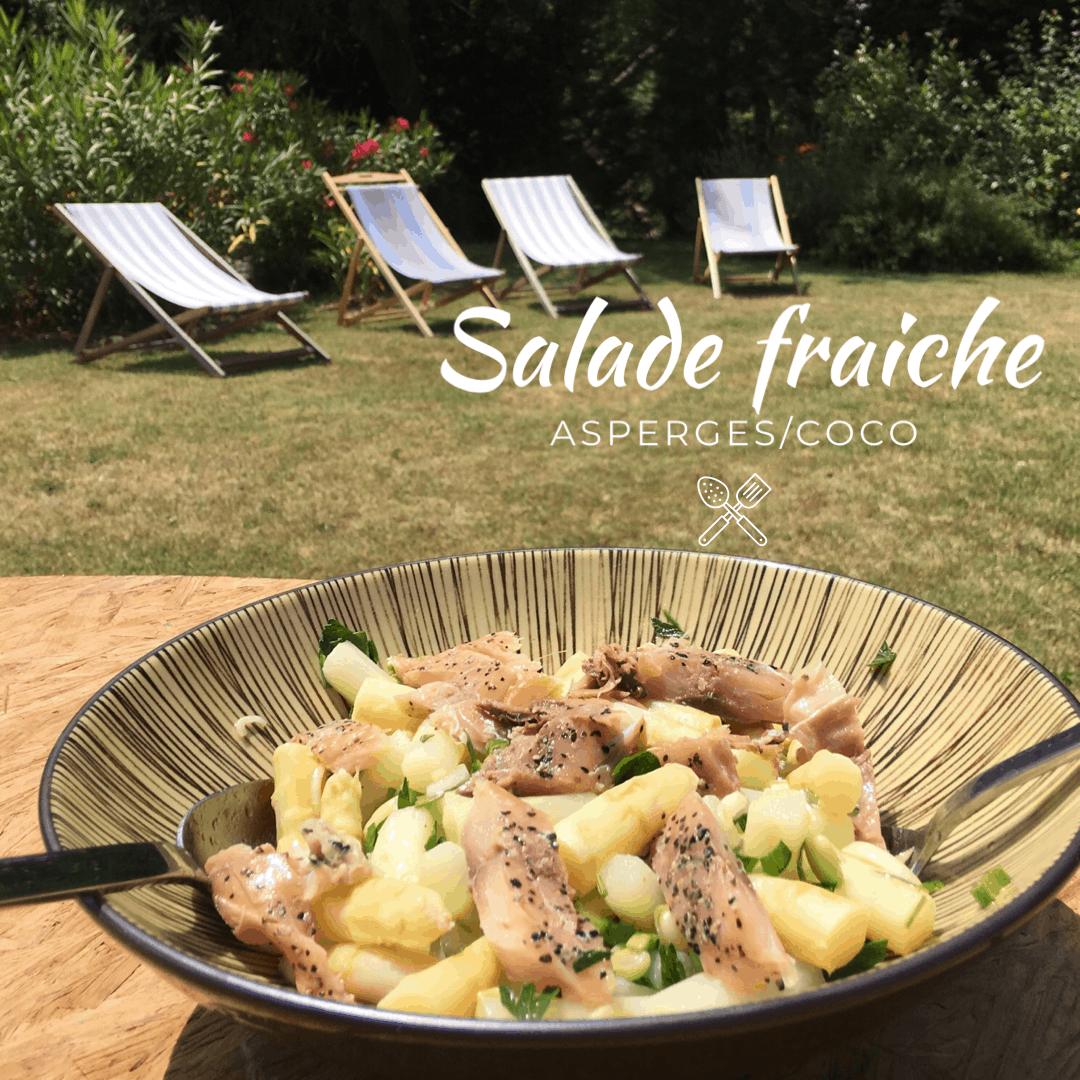 Salade fraiche asperges coco